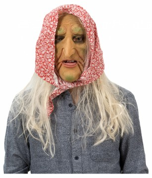 STRETCH LATEX MASK OLD LADY
